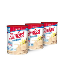 SlimFast Weight Loss Plan French Vanilla Protein Shake Mix 12.83oz Pack of 3