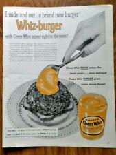 1955 Kraft Cheez Whiz Cheese Ad  A Brand New Burger Whiz-Burger