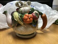 Vintage Unique Fruit And Vegetable Teapot With Lid