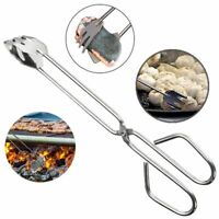 BBQ Tool Stainless Steel Scissors Type Grilled Food Clip Barbecue Portable Tongs