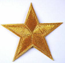 GOLD STAR sew embroidered applique iron-on patch HIGH QUALITY 3x3""