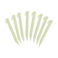 Neongelbe Kunststoffheringe 22 cm – 8er Set T-Zeltheringe Falcon Claw Erdnägel