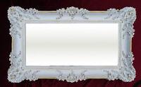 Wandspiegel Rechteckig Weiß Gold  BAROCK WANDDEKO Antik Spiegel 96x57cm NEU