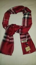 New Woman Fashion Scarf Burberry Col. Red Cashmere Made in Scotland