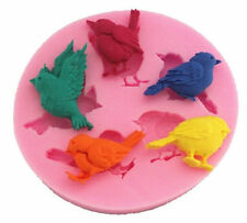 Bird Assortment 5 Cavity Silicone Mold for Fondant Gum Paste Chocolate NEW