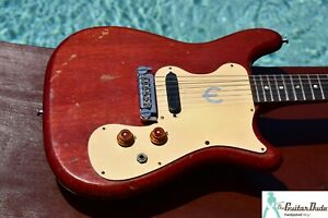 Vintage 1965 Epiphone Olympic - Cherry With Brazilian FB -Natural Relic -