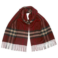 Burberry Classic Cashmere Scarf in Check - Claret
