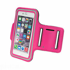 Sports Running Jogging Gym Armband Waterproof Cover for iPhone 5,5s,5c Hot Pink