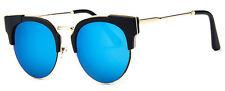 Mohawk Ladies 50's Retro Cateye Sunglasses Blue Mirror UV400 Y93