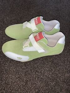 Diesel mens trainers Size 7 EU 40 Green White Suede Leather