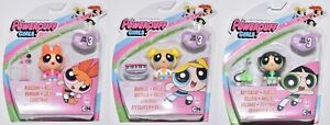 Powerpuff Girls x3 Action Figures w/ Musical Instruments Blossom Bubbles 11-04 *