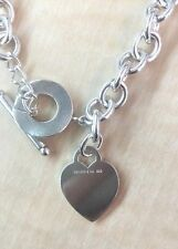 Tiffany & Co.  Authentic Sterling Silver Heart Tag Toggle Necklace