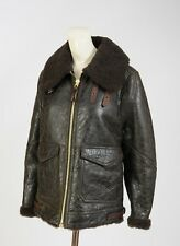 NEW BURBERRY BRIT SHEARLING LAMBSKIN Leather Aviator Jacket coat size 6 S 40