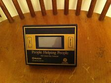 Vintage foldable dual power calculator clock combination Metlife United Way RARE