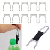 10pcs Durable Clip Water Bottle Holder Camping Hiking Snap Hook - Silver