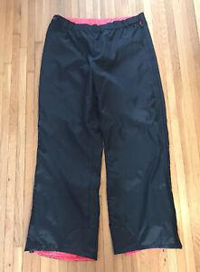 Vtg 90s Columbia Ski Pants Snow Arctic Black Pink Neon Mens XXL SS8300