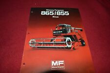 Massey Ferguson 865 855 Rice Combine Dealer's Brochure DCPA