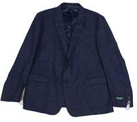 Lauren by Ralph Lauren Mens Sport Coat Blue Size 48 R Plaid Classic Fit $450 036