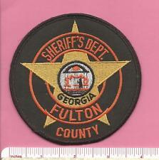 Fulton County GA State Georgia Law Enf. Sheriff Dept. Police Shoulder Patch - V1