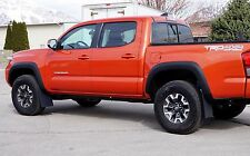 "2016+ Toyota Tacoma REGULAR Mud Flaps, ROKBLOKZ no drilling, CLEARS 35"" tires"