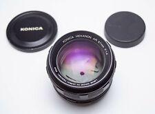 Konica Hexanon AR Mount 57mm 1:1.4 F1.4 Prime Full Frame Lens Beautiful Glass!