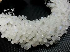 10 Piece Natural Rainbow Moonstone Teardrop Faceted 4x6-5x7mm Gemstone Beads