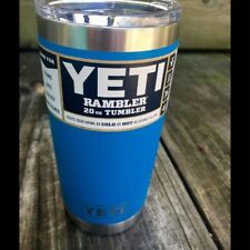 YETI 20 oz Tumbler Clear Lid Limited Edition Tahoe Blue DuraCoat 100% Authentic!
