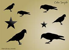 Primitive Crow STENCIL Black Bird Country Folk Art Home decor craft project Sign