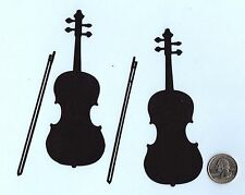 "Violin Die cuts - 2 Violin Die Cuts -, 2-1/4"" x 5"", 4 pcs. - You choose color"