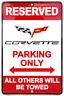 Chevrolet Chevy Corvette Parking Only 8 x 12 Automotive Car Garage Man Cave Sign