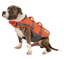 Outward Hound Dog Life Jacket Safety Vest Size Medium Orange Gray 30-55 Pounds