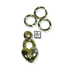 Nagel Piercing Herz + Stein gold/ Nagel Schmuck Nagelpiercing Anhänger