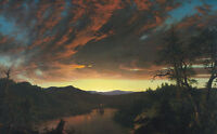 Nice oil painting Twilight in the Wilderness wonderful landscape no framed art