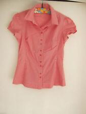 Rot weiß gestreifte Bluse Shirt super süß Orsay Größe 38 S M kurzarm Rockabella