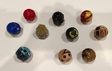 Bakugan Battle Brawlers Lot of 10 Transforming Figure Balls & Metal Cards, set 7
