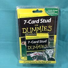 7-Card Stud For Dummies Learn to Play Poker Cards Guidebook & Teaching Deck NIP