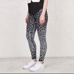 Womens Nike Pro Dri-fit Giraffe print  leggings Size XL