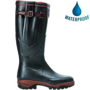 Aigle Parcours 2 ISO Mens Womens Neoprene Adjustable Boots Wellies Bronze