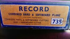 Vintage Record 375 Hard And Soft board Plane Vgc In Box