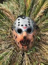 Jason Voorhees Hannibal Cracked Mask Custom Hand Painted - High Quality