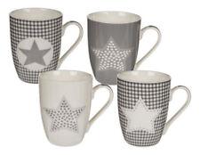12x Becher Stern Porzellan 11,5x10,5 cm mit Henkel Kaffee Tee Tasse Kaffeebecher