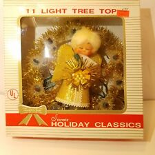 VINTAGE STORMIN #500 CHRISTMAS LIGHTED ANGEL TREE TOPPER IN BOX MADE IN TAIWAN