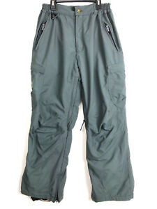 A1 Ripzone Core Ski Snowboard Lined Pants Green Gray Mens Size Small