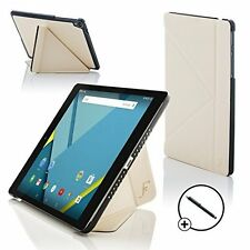 Forefront Cases White Origami Smart Case Cover HTC Google Nexus 9 8.9 Stylus
