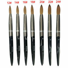 Kolinsky Sable Hair Acrylic Nail Brush Pen Liquid Glitter Handle Manicure Tools