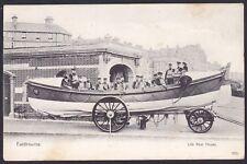 James Stevens Lifeboat.Outside Life Boat House Eastbourne Sussex 1904 Postcard