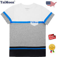 Kids Boys Children Cotton Summer Short Sleeve T-shirt Tops Costume Christmas US