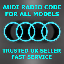 AUDI CAR RADIO UNLOCK PIN CODE TT A2 A3 A4 A6 A8 Q3 Q5 RS3 RS4 RS5  FAST SERVICE