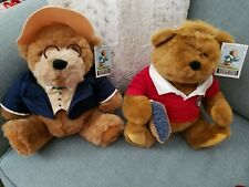 Gund Lands End Rugby Bears Big Daddy 1992 and Kid Kodiak 1996