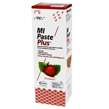 New GC STRAWBERRY Mi Paste Plus Topical Recaldent Cream NIB Factory-Sealed